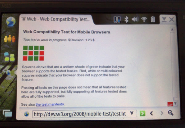Nokia N810 using Firefox/3.0a1 Tablet browser 0.2.2